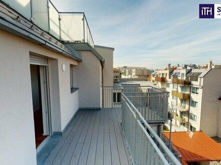 Fast ausverkauft! Ab ins Dachgeschoss mit Traumterrasse! Perfekte Raumaufteilung + Hofseitiger Balkon und Terrasse + TOP-Ausstattung…
