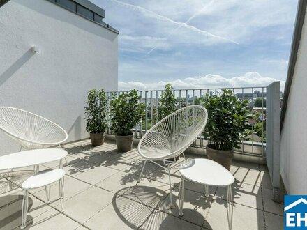 DG-Wohnung mit Fernblick: 4 Zimmerwohnung mit Terrasse und Dachterrasse