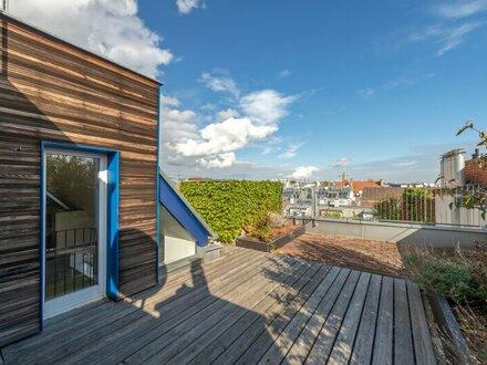 ++NEU++ Außergewöhnliche, renovierungsbedürftige 5-Zimmer Architekten DG-Wohnung, uneinsehbare Terrassen!!