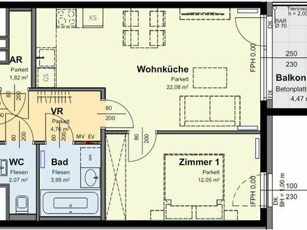 WOHNZEILE15 - Gemütlichkeit mit Morgensonne auf gemütlichen 2 Zimmern (5/58)