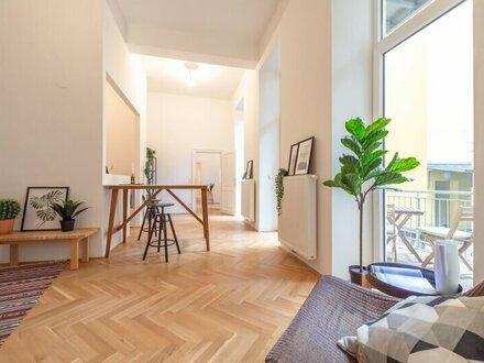 ++NEU** 4,5 Zimmer Altbauwohnung, ERSTBEZUG, toller Stilaltbau, 11m² Balkon + 44m² Garten!