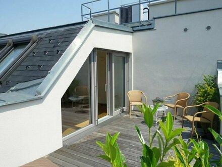 Provisionfrei für die Käufer - ERSTBEZUG - 4 Zimmer DG-Maisonette mit West-Terrasse - inkl. Kühlung und Marken-Küche