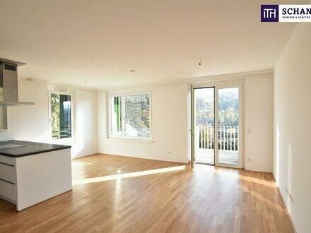 Wohntraum im Grünen + perfekte Raumaufteilung + Wohnküche mit Süd-Balkon + Garagenstellplatz. Worauf warten Sie noch?