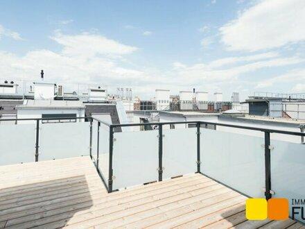 Exklusiv ausgestattete Dachgeschoss-Wohnung, großzügige Freiflächen