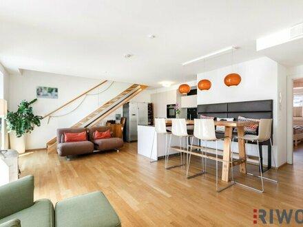 Einzigartiges Architekten-Penthouse mit zwei Süd-Terrassen in Niedrigenergie-Bauweise (BJ 2014) in revitalisierten Altbauhaus…