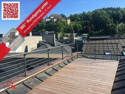 Rarität in der Altstadt: Dachterrasse mit Rundumblick!