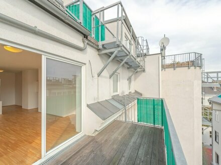 ++NEU++ Tolle 3-Zimmer DG-Maisonette mit Terrasse/Balkon in Toplage! Burggasse-Stadthalle, großzügige Wohnküche!