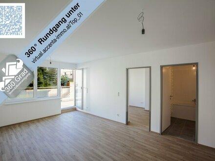 Nähe Alte Donau - Helle Maisonette Wohnung mit großem Garten. Nutzung als Büro möglich!