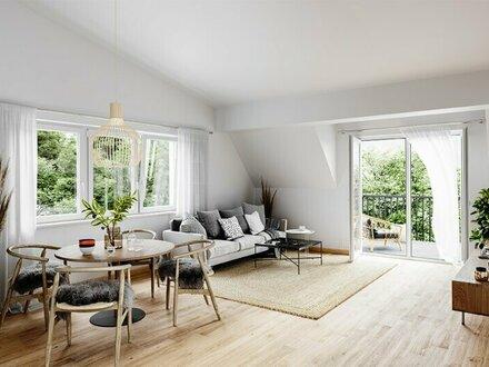 2-Zi Dachgeschosswohnung mit Südblick und Balkon