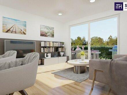 FABELHAFT! HERRLICHE 3 Zimmer Wohnung mit 30 m² Garten und Terrasse! NEUBAU! PROVISIONSFREI!