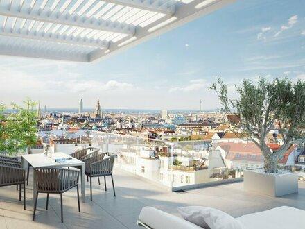 Luxuspenthouse im Dachgeschoss mit Dachterrasse und einzigartigem City-Rundblick