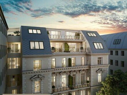 Luxus Dachgeschosswohnung im Palais mit unverbautem Grünblick (Exklusiver Erstbez)