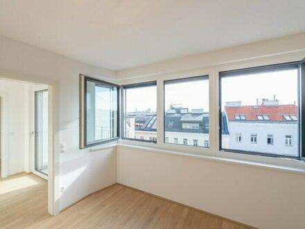 Six in the City: Hochwertige 2-Zimmerwohnung, BESTLAGE, ERSTBEZUG mit Balkon!