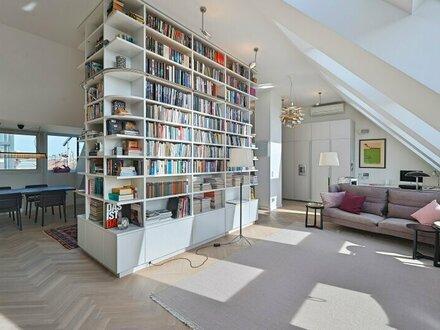 Rochusmarkt! Design-Penthouse mit 3 Terrassen und Garagen-Option