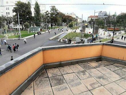 UNIKAT! Direkt am REUMANNPLATZ mit 18m² großer Terrasse