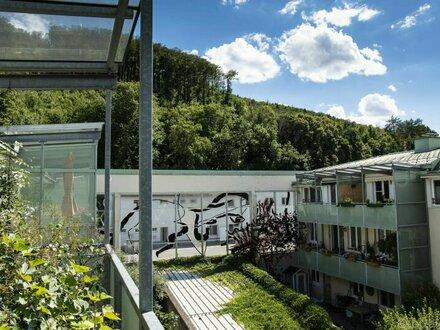 GRÜNBLICK mit 2 Balkonen und 5 Zimmern - PURKERSDORF ZENTRUM - inklusive GARAGENSTELLPLATZ