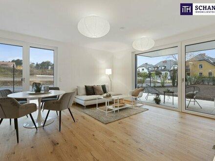 Spüren Sie die Qualität! Ihre Gartenwohnung mit drei Zimmer und den feinsten Materialien.