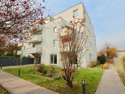 EUM - Gartenblick! Hofseitiger 2-Zimmer-Neubau mit Balkon und Garagenstellplatz