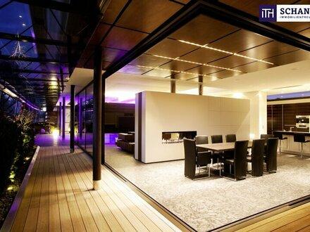 ITH: GRANDIOS! Designer LUXUS-Penthouse mit Panoramablick + Riesige Terrassen + Indoor Pool + Sauna + Kamin + Ruhelage +…