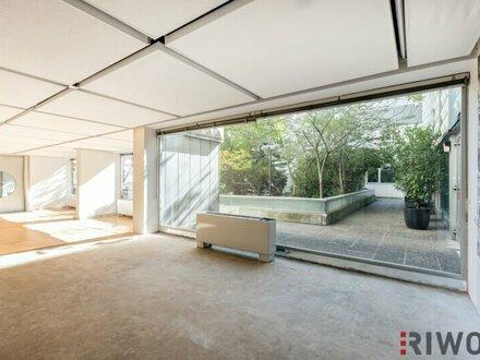 SPANNDENDES LOFT-BÜRO, ruhig, Klimaanlage, Pool und Sonnenterrsse am Dach!