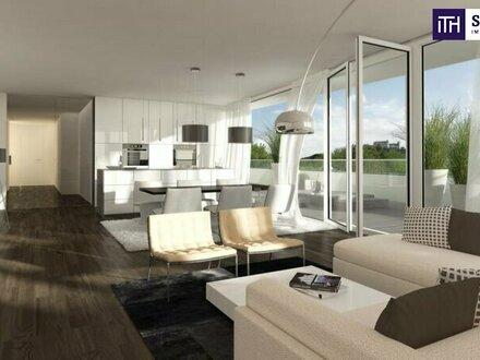 Exklusive Neubauwohnung 73 m² mit einer 128 m² Terrasse + traumhaften Ausblick! TOP LAGE in GRAZ! Provisionsfrei!