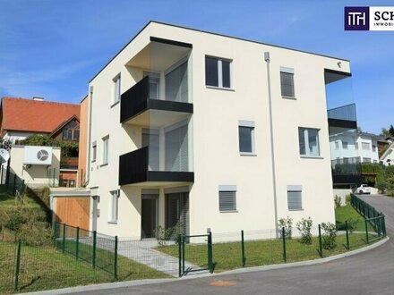 ITH - Entzückende, helle Neubauwohnung mit Eigengärtchen! Herrliche Terrasse zum Entspannen! PROVISIONSFREI! Graz-Nähe!