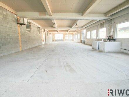 Ebenerdige Halle mit 1.000m². Teilbar auf 500m². Optionale Freifläche bis 2.000m²
