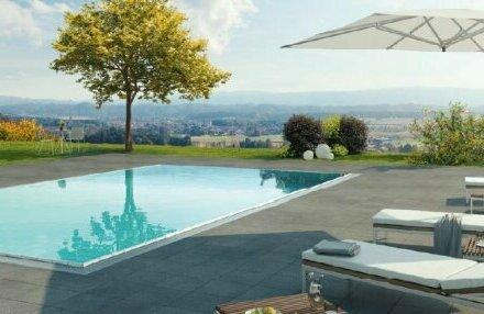 Idyllische Wohnoase! Ideal für Hauptwohnsitz- und Ferniendomizil! Sie genießen einen Wellnessbereich + Außenpool + Vollservice…