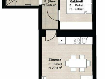 ++ GEHEIMTIPP ++ Perfekte 2-Zimmer-Wohnung in revitalisiertem Stilaltbau