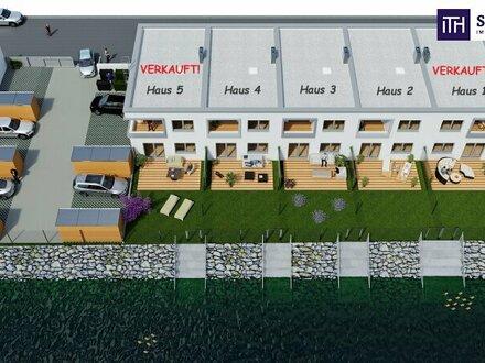 Gelegenheit: Reihenhaus + Neubau + Idyllisch am Wasser + Loggia + Eigengarten + tolle Raumaufteilung!