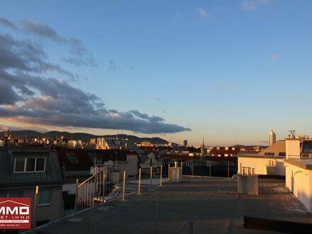 Beeindruckende 4-Zimmer SüD-WEST DACHGESCHOSSWOHNUNG mit riesiger Dachterrasse zwischen Augarten und Prater!