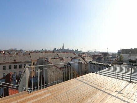 RATHAUSBLICK! Loftartiges 2-Zimmer-Dachgeschoß mit fantastischer Dachterrasse
