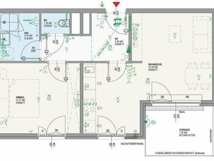südseitige 2 Zimmer Dachgeschosswohnung mit Blick über Meidling - LIWI280/185