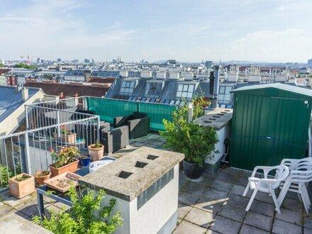 Ruhelage! Maisonette-Dachgeschosswohnung mit großer Terrasse und Parkblick!