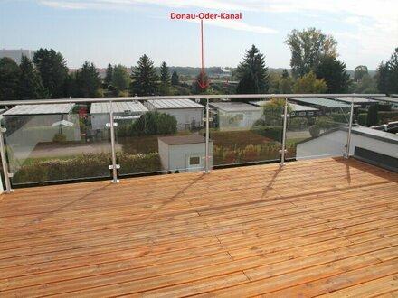 Doppelhaushälfte auf 3 Ebenen - Dachterrasse SÜD - OST ausgerichtet - Naturfernblick über den Badeort (Badeplätze)