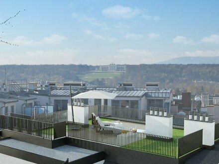 TRAUMBLICK RUND UM WIEN - Gloriette-Blick von der Dachterrasse
