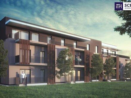 ITH AM PULS DER ZEIT! IDEAL eingeteilte ERSTBEZUGS-WOHNUNG ca. 71 m² mit GROßEN BALKON im ZENTRUM von FELDBACH