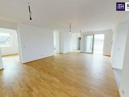 """""""Mit virtuellem Rundgang"""" - Geniales Penthouse auf einer Ebene mit über 60 m² Dachterrasse on TOP."""
