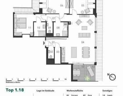 +++ ELEGANTE DACHGESCHOSSWOHNUNG! +++ Idyllische 4-Zimmer Dachgeschoss Eigentumswohnung mit Loggia und Terrasse