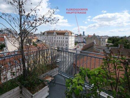 Floridsdorf AM SPITZ- Dachterrassenwohnung 3 Zimmer 87,26 m² + 62,77 m² Panorama-Terrasse