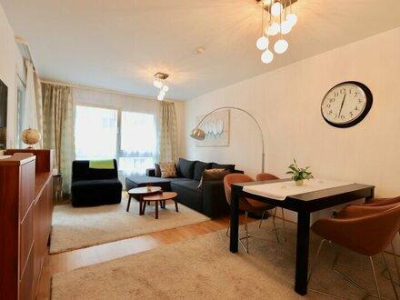 Modern möbliertes Apartment mit Garage! 2-Zimmer-Neubau mit Loggia im 2. Liftstock