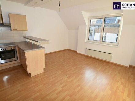 Wohntraum über den Dächern Wiens! Dachgeschoß-Maisonette + 3 Zimmer + große Küche + Top Lage