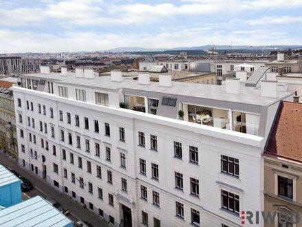 SOMETHING SPECIAL - Dachterrassenwohnung komplett auf einer Ebene mit außergewöhnlicher Raumhöhe (bis zu 2,90m) | Top34