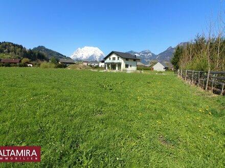 Wohnen Sie gerne im Grünen mit Blick auf die Berge? 833m² Baugrundstück in sonniger, ebener Lage! Zweitwohnsitz möglich