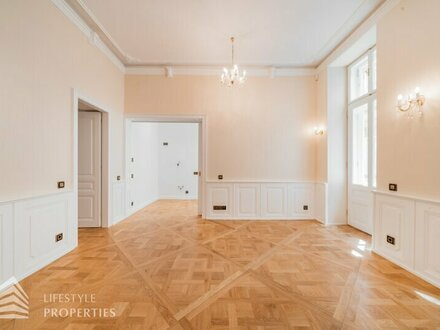 Luxuriöse 2-Zimmer Altbauwohnung mit Balkon, Nähe Stephansplatz
