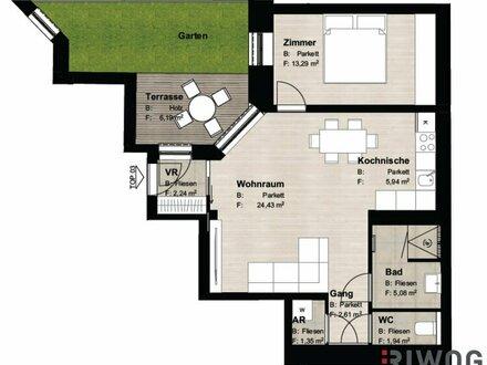 ++ Wunderschöne 2-Zimmer-GARTENWOHNUNG (Top 03) ++ Süd-West-Ausrichtung und exklusive Ausstattung