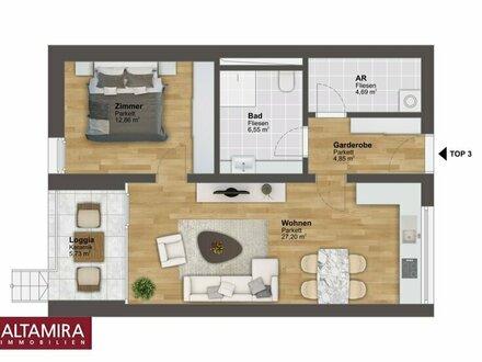 Marktgemeinde Irdning: 56m² Neubau Eigentumswohnung mit Loggia und kleinen Garten! ZWEITWOHNSITZ möglich