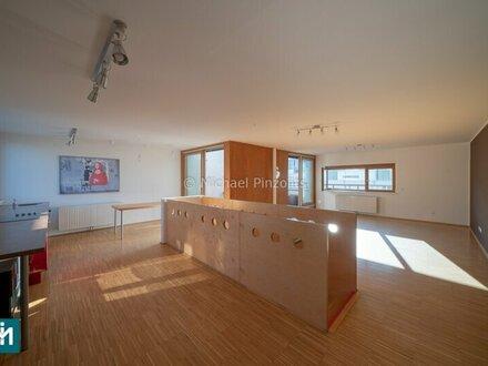 Modernes Büro mit Terrasse im Dachgeschoß zwischen Fuzo und Schlosspark