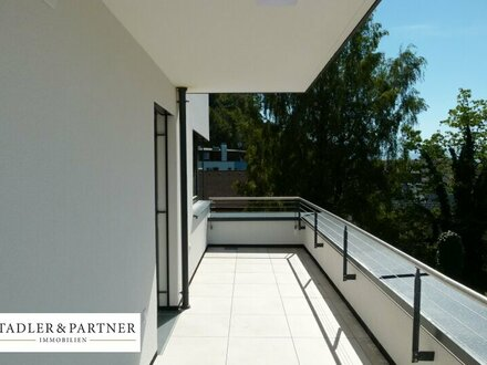 Erstbezug & barrierefrei: Exklusive 2 Zi. Dachgeschosswohnung mit großem Balkon!!!