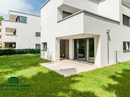 Moderne 3-Zimmer-Wohnung mit Terrasse und Garten